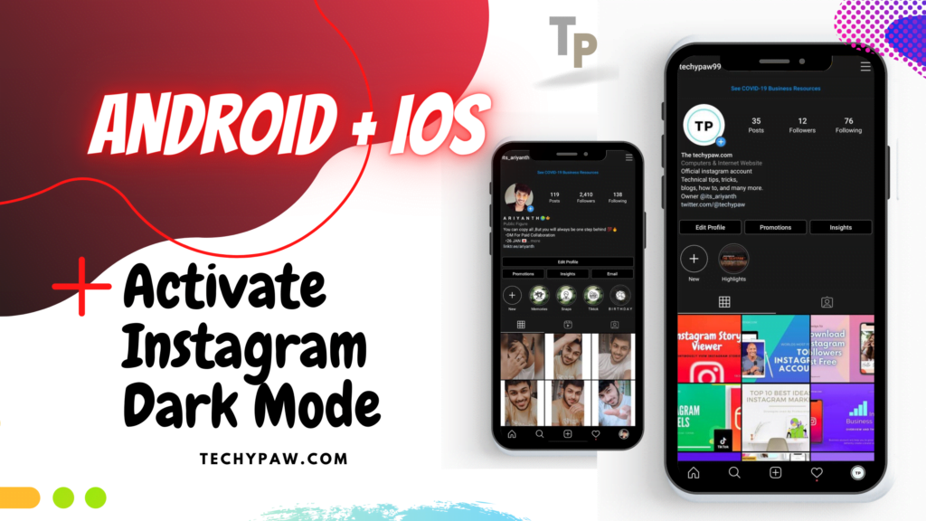 Activate Instagram DARK MODE on Android/iOS