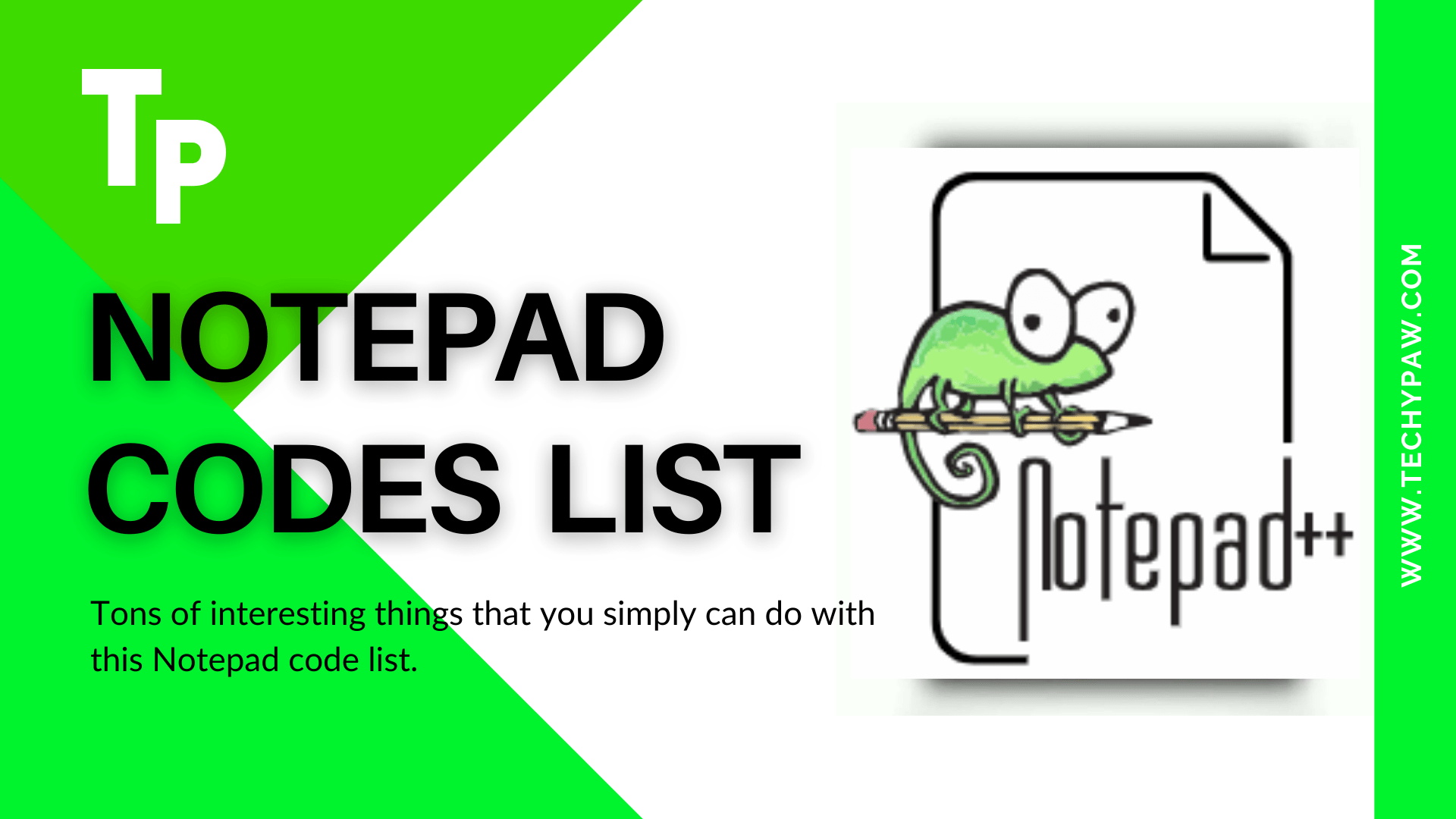 Download Notepad code list