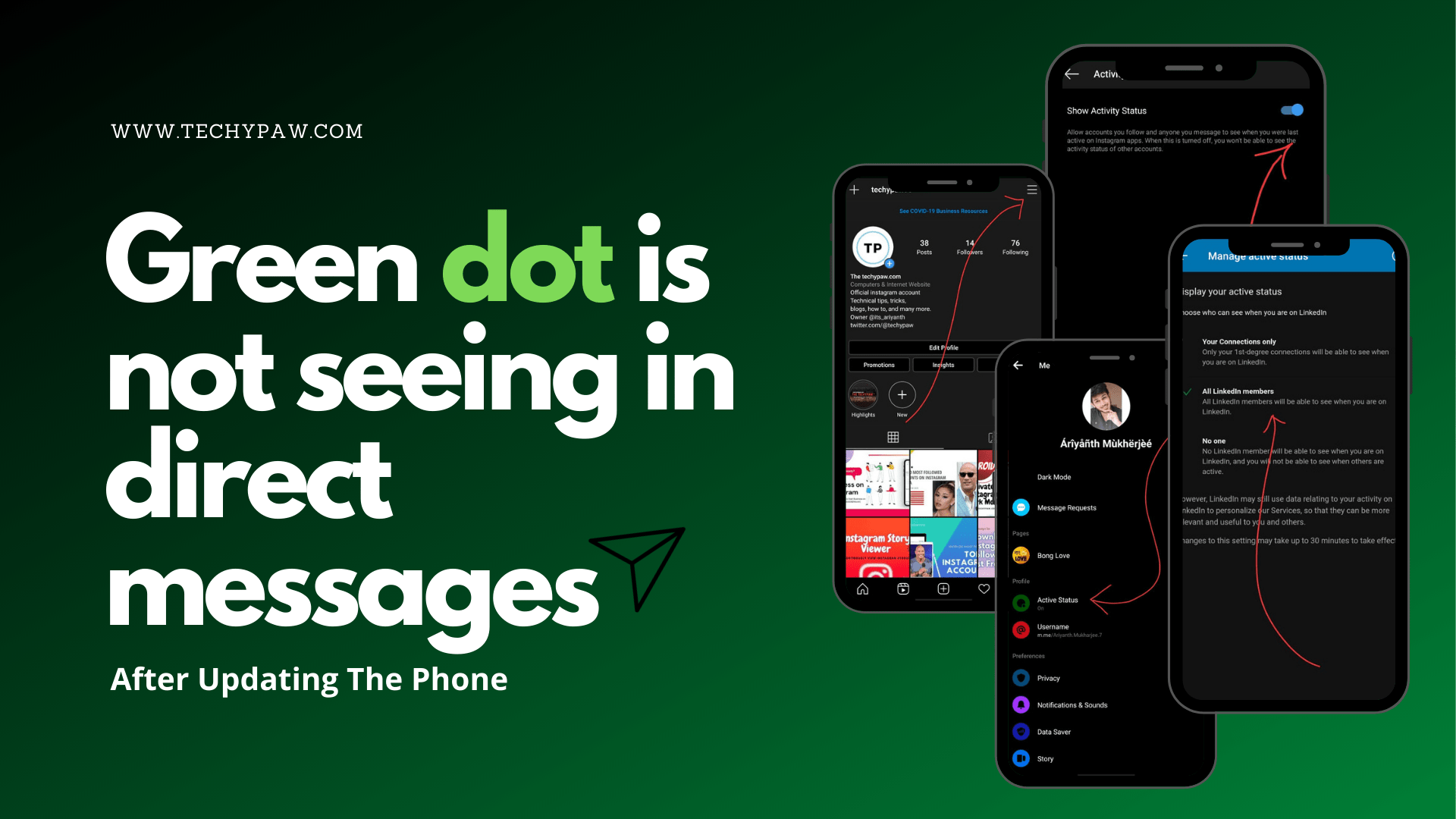 Green Dot Is Not Seeing In Direct Messages