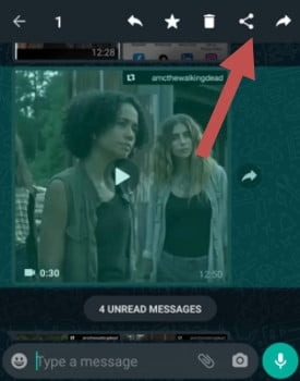 How to share whatsapp status video of others?