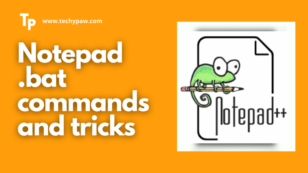 5 WORKING Notepad BAT Commands And Tricks [Nodepad++]